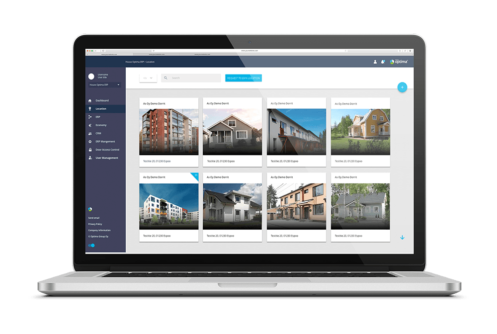 House Optima digital logbook for property manager